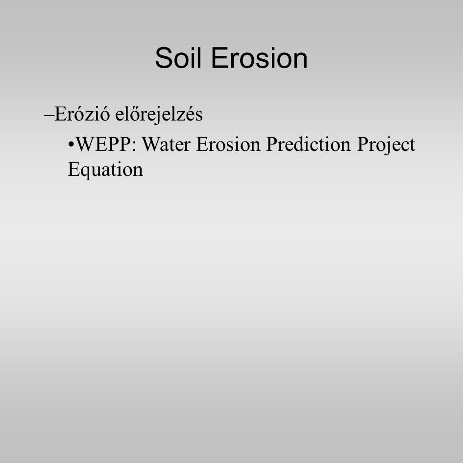 Soil Erosion Erózió előrejelzés