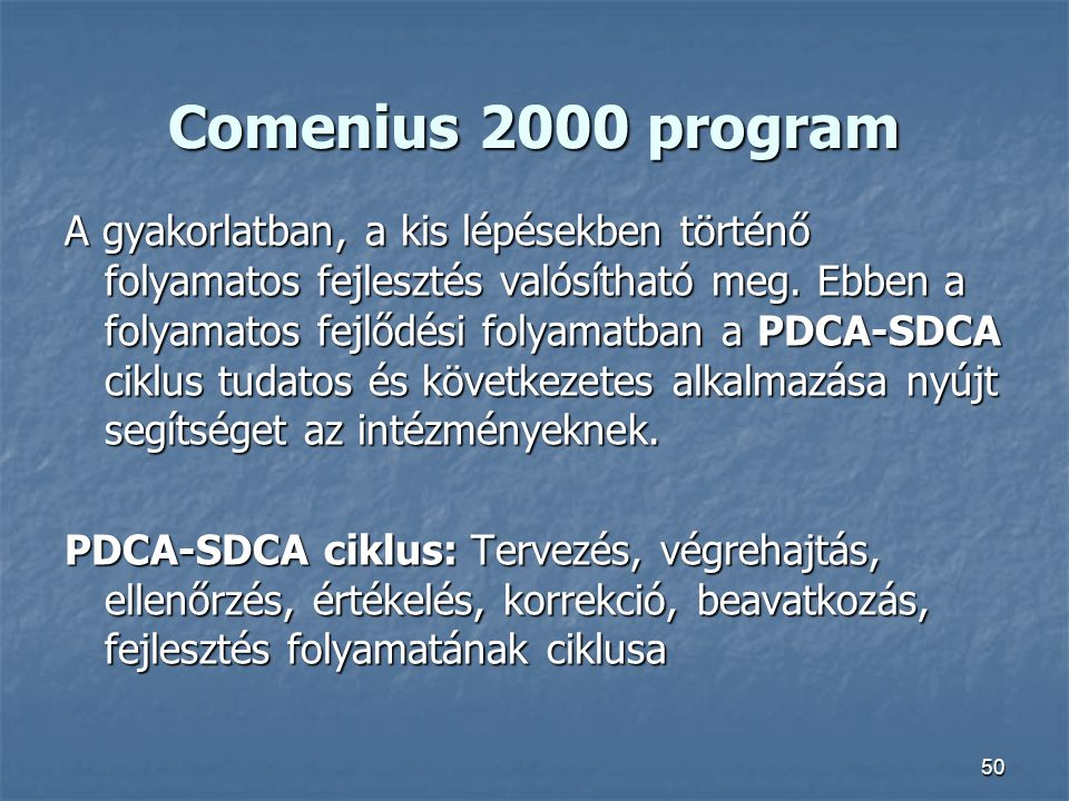 Comenius 2000 program