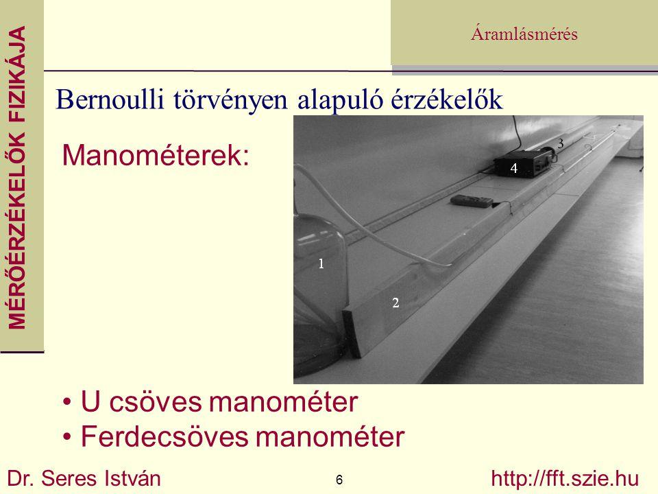 Bernoulli törvényen alapuló érzékelők