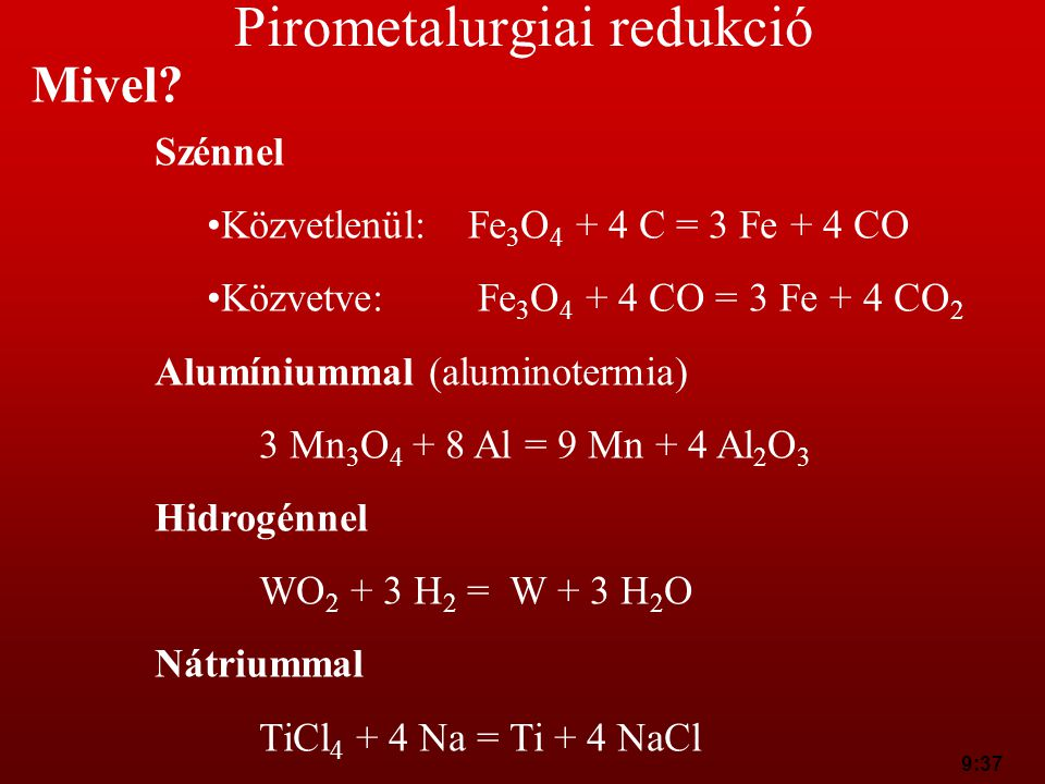 Pirometalurgiai redukció