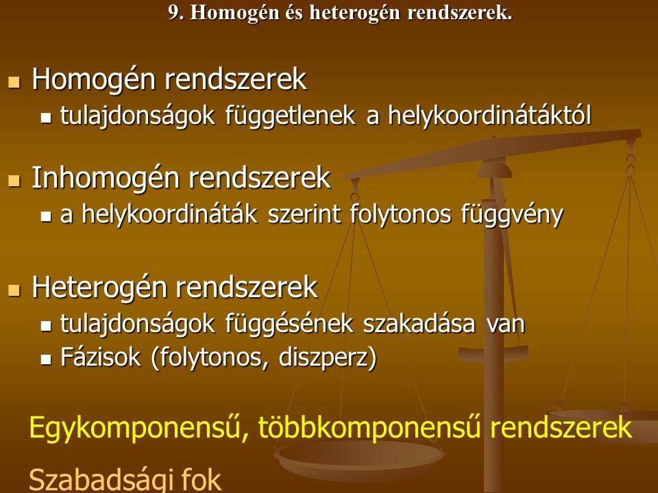 9. Homogén és heterogén rendszerek.