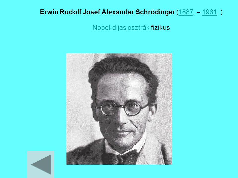 Erwin Rudolf Josef Alexander Schrödinger (1887. – 1961