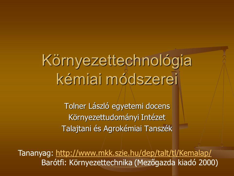 Környezettechnológia kémiai módszerei