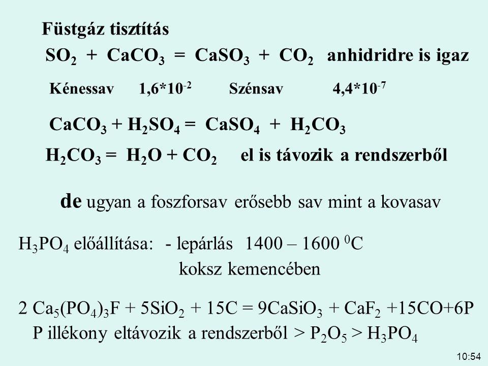 de ugyan a foszforsav erősebb sav mint a kovasav