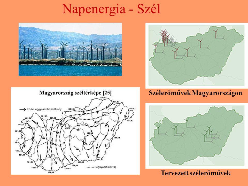 Szélerőművek Magyarországon Tervezett szélerőművek