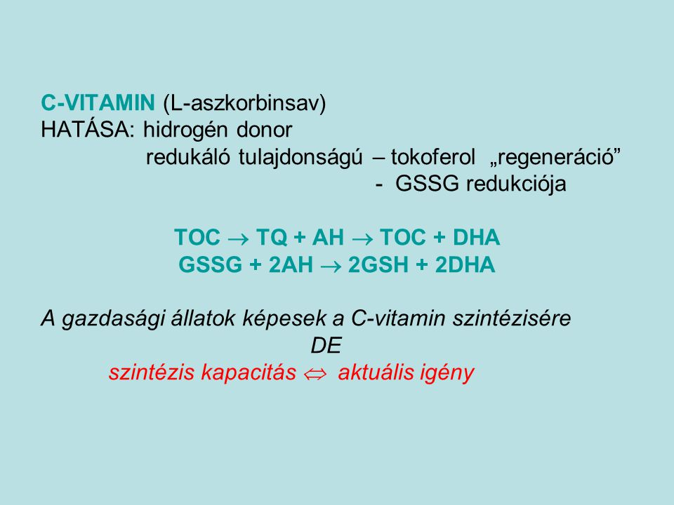 C-VITAMIN (L-aszkorbinsav)