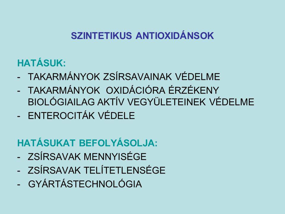 SZINTETIKUS ANTIOXIDÁNSOK