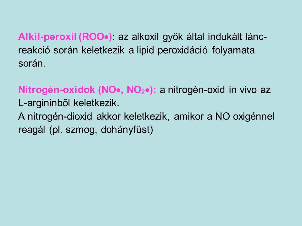 Alkil-peroxil (ROO): az alkoxil gyök által indukált lánc-