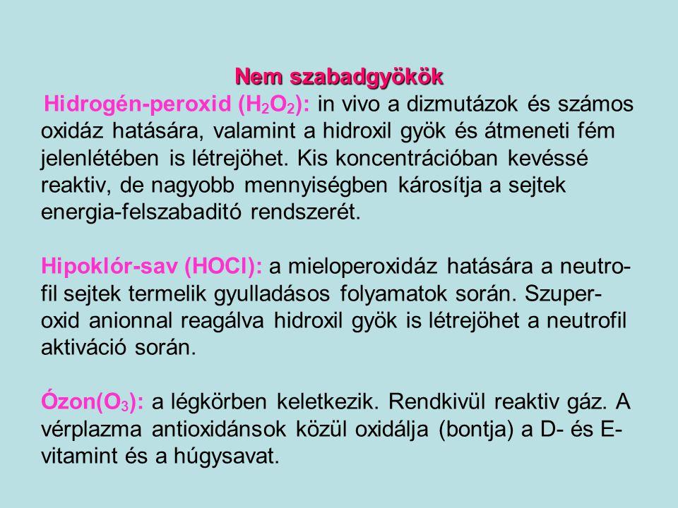 Hidrogén-peroxid (H2O2): in vivo a dizmutázok és számos