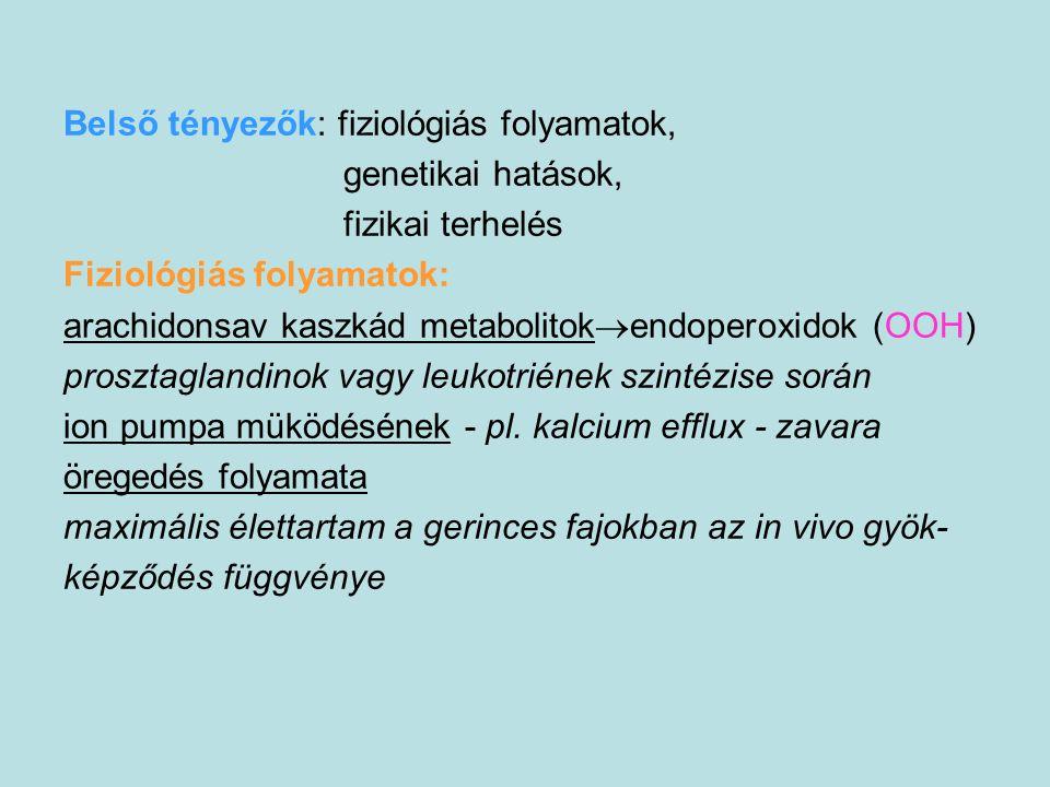 Belső tényezők: fiziológiás folyamatok,