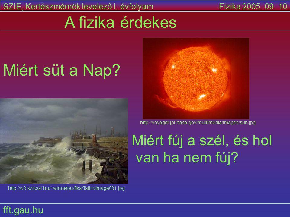 A fizika érdekes Miért süt a Nap