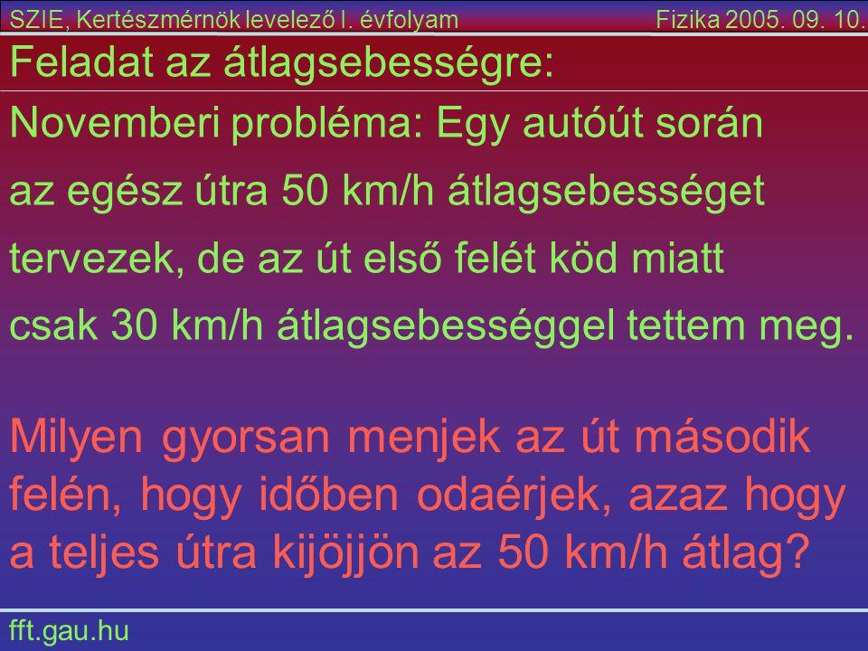 a teljes útra kijöjjön az 50 km/h átlag
