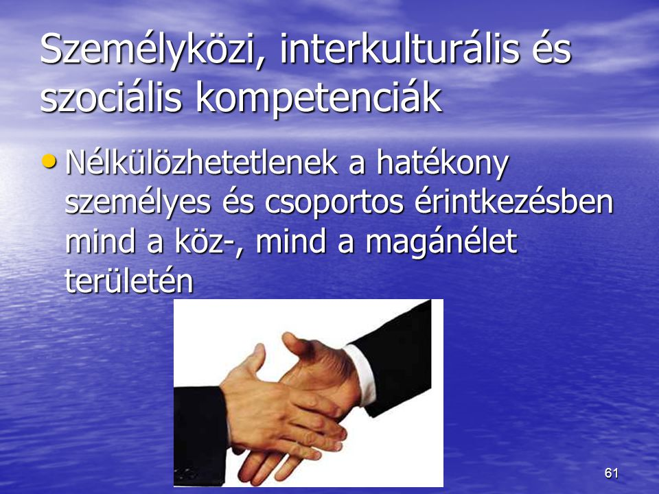 Személyközi, interkulturális és szociális kompetenciák