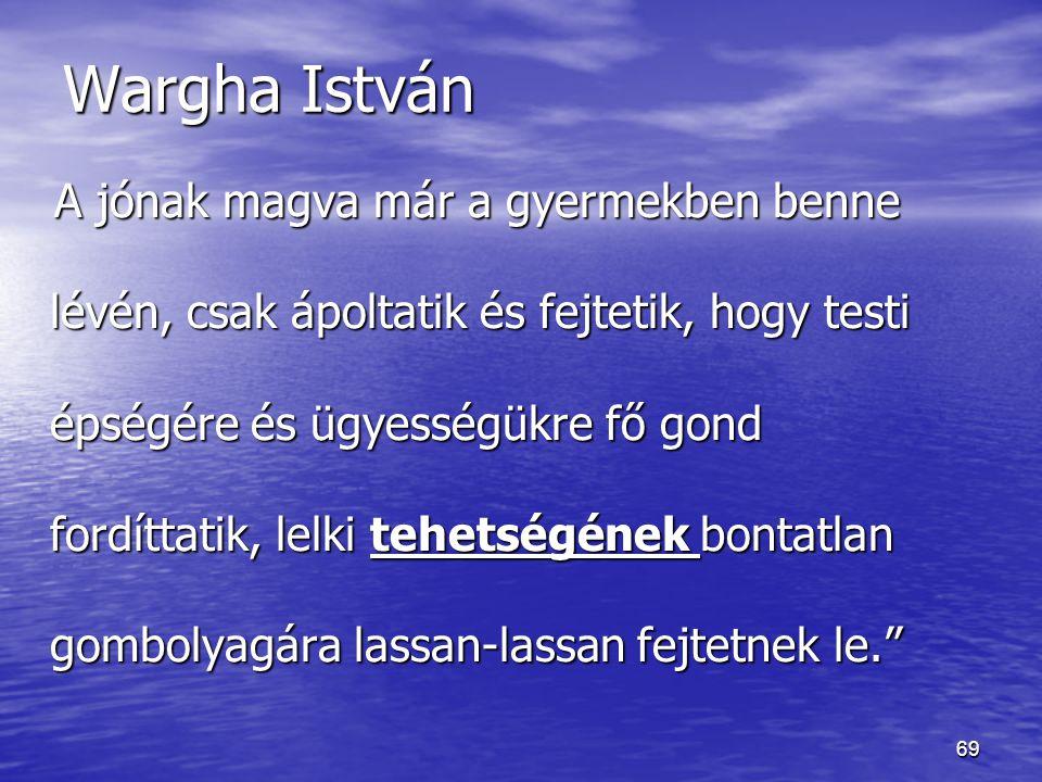 Wargha István