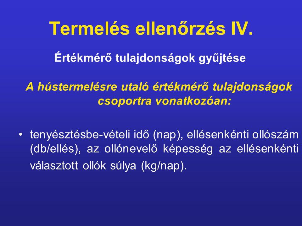 Termelés ellenőrzés IV.