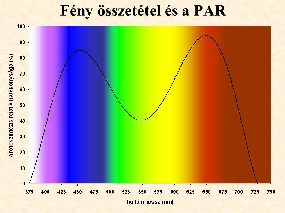 Fény összetétel és a PAR