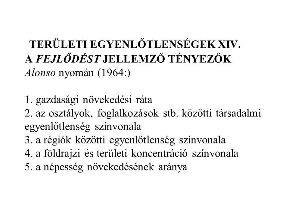 TERÜLETI EGYENLŐTLENSÉGEK XIII