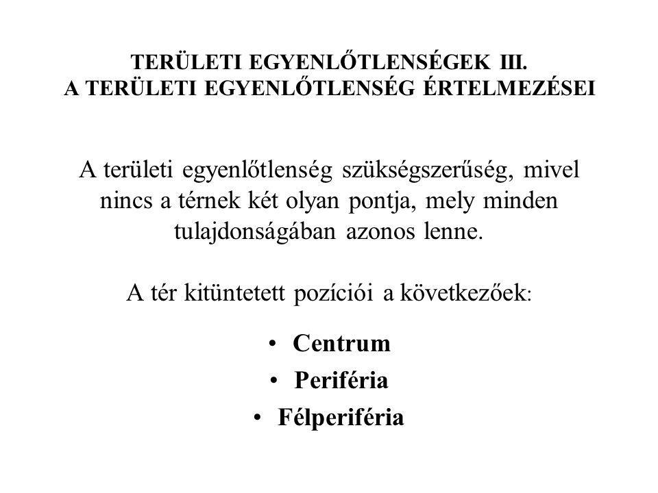 Centrum Periféria Félperiféria