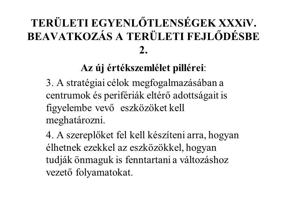 TERÜLETI EGYENLŐTLENSÉGEK XXXiV. BEAVATKOZÁS A TERÜLETI FEJLŐDÉSBE 2.