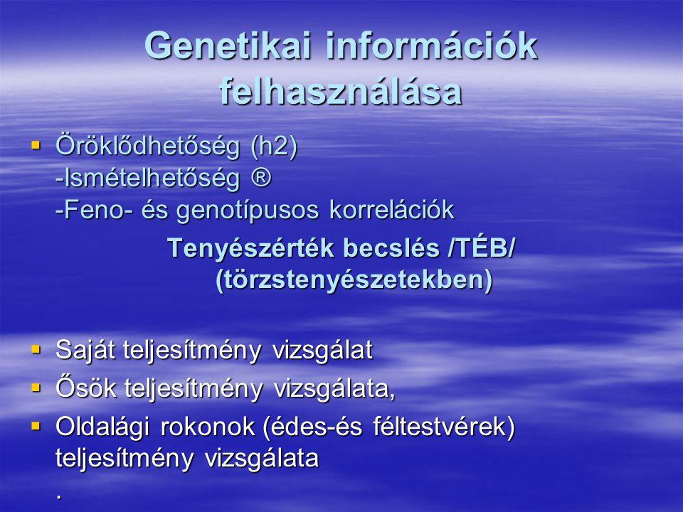 Genetikai információk felhasználása