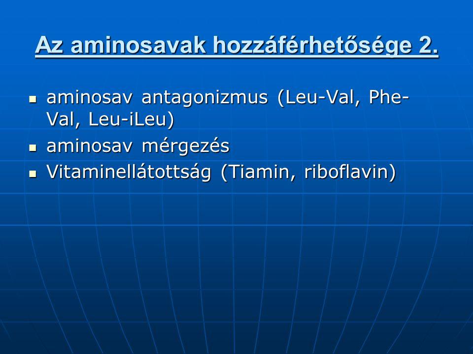 Az aminosavak hozzáférhetősége 2.