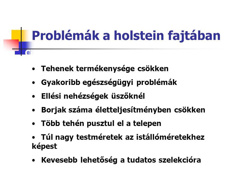 Problémák a holstein fajtában