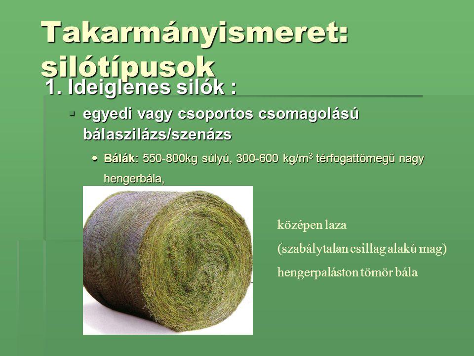 Takarmányismeret: silótípusok