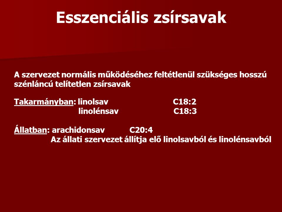 Esszenciális zsírsavak