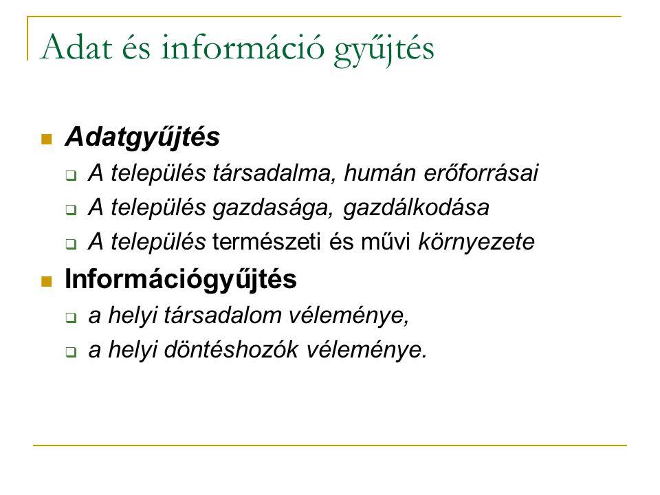 Adat és információ gyűjtés