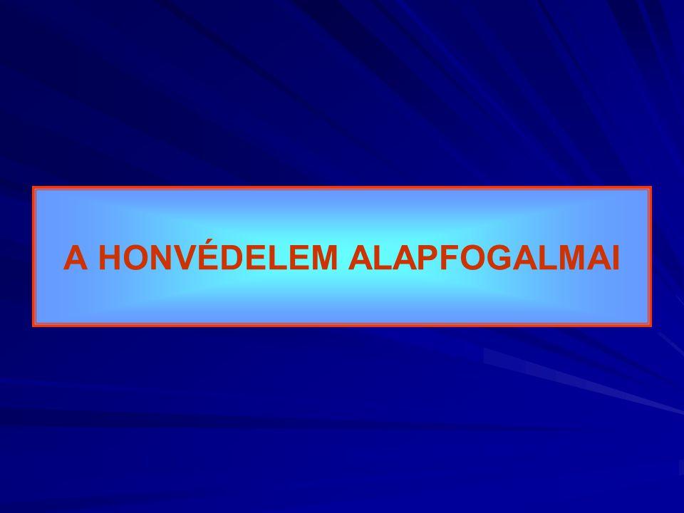 A HONVÉDELEM ALAPFOGALMAI