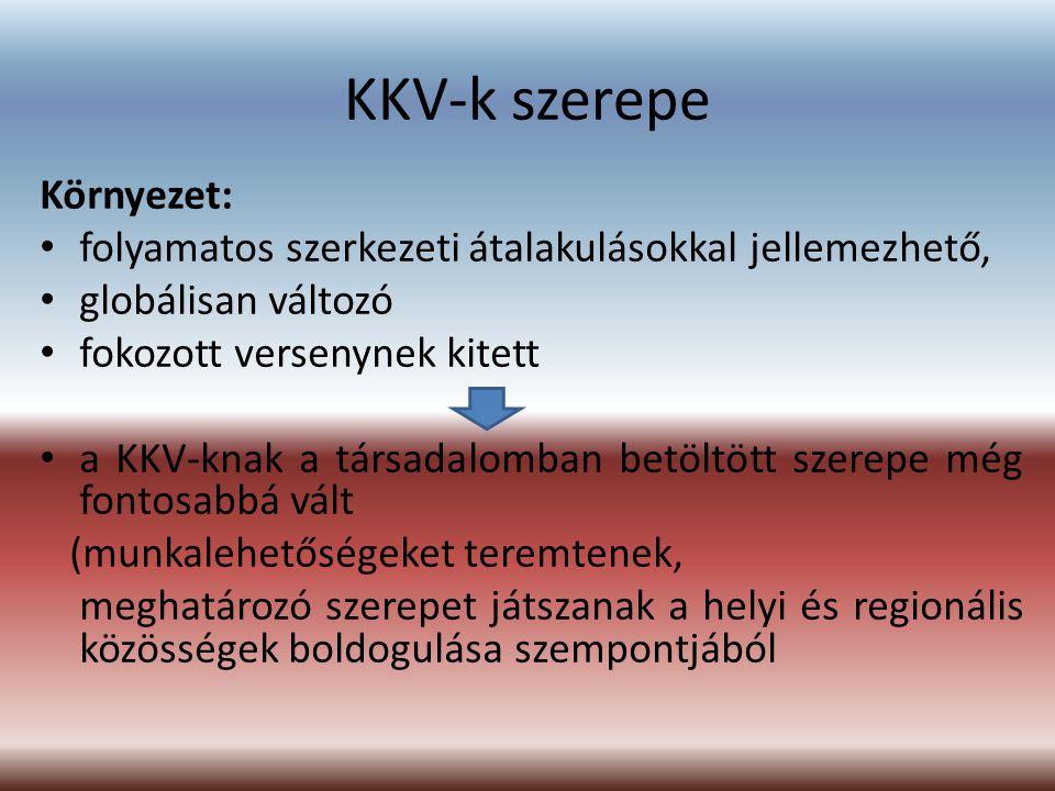 KKV-k szerepe Környezet: