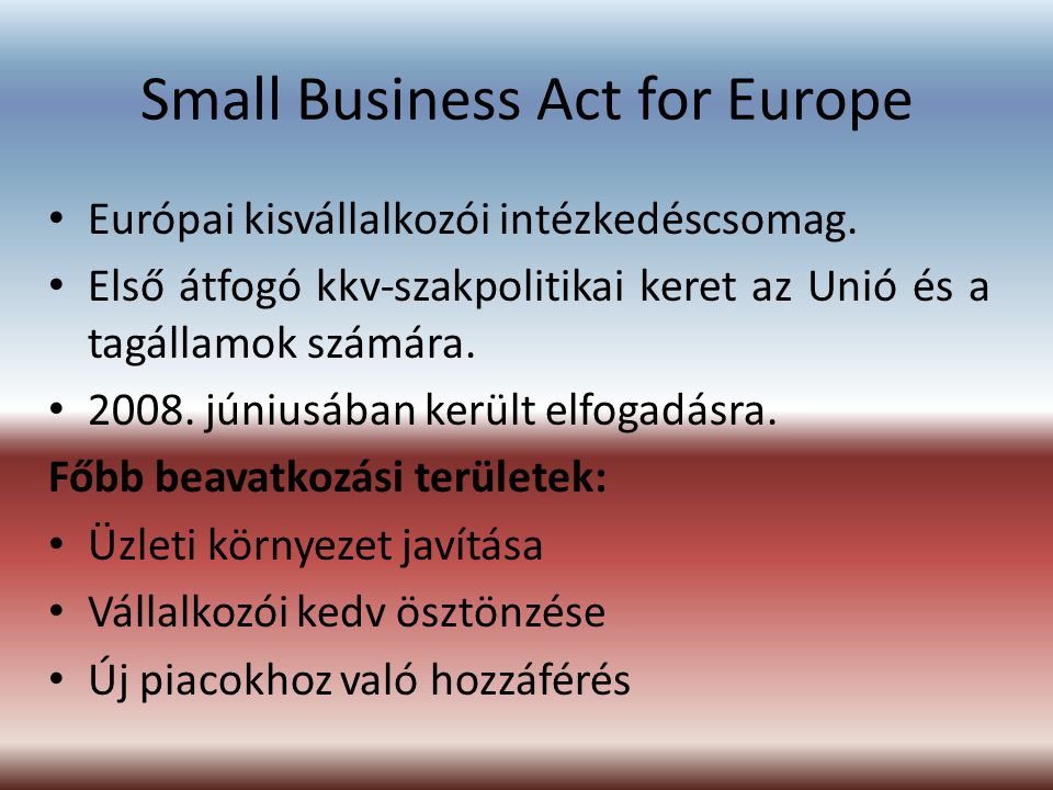 Small Business Act for Europe