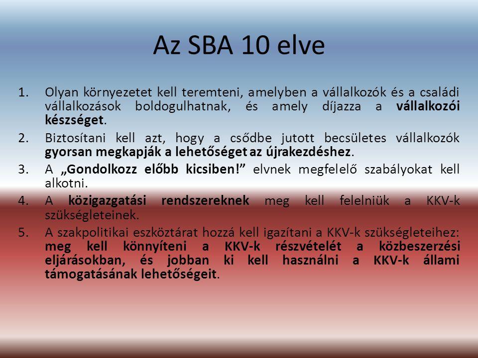 Az SBA 10 elve