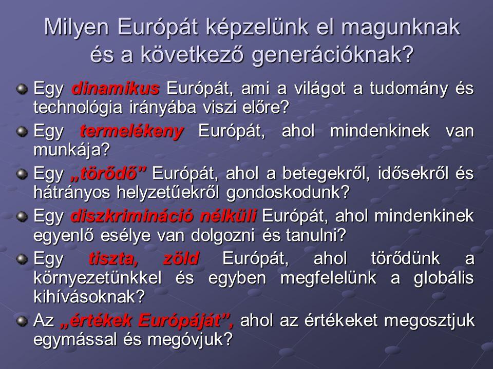 Milyen Európát képzelünk el magunknak és a következő generációknak
