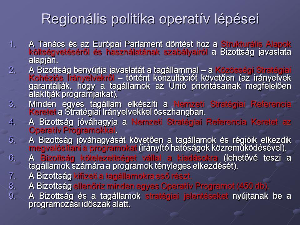 Regionális politika operatív lépései