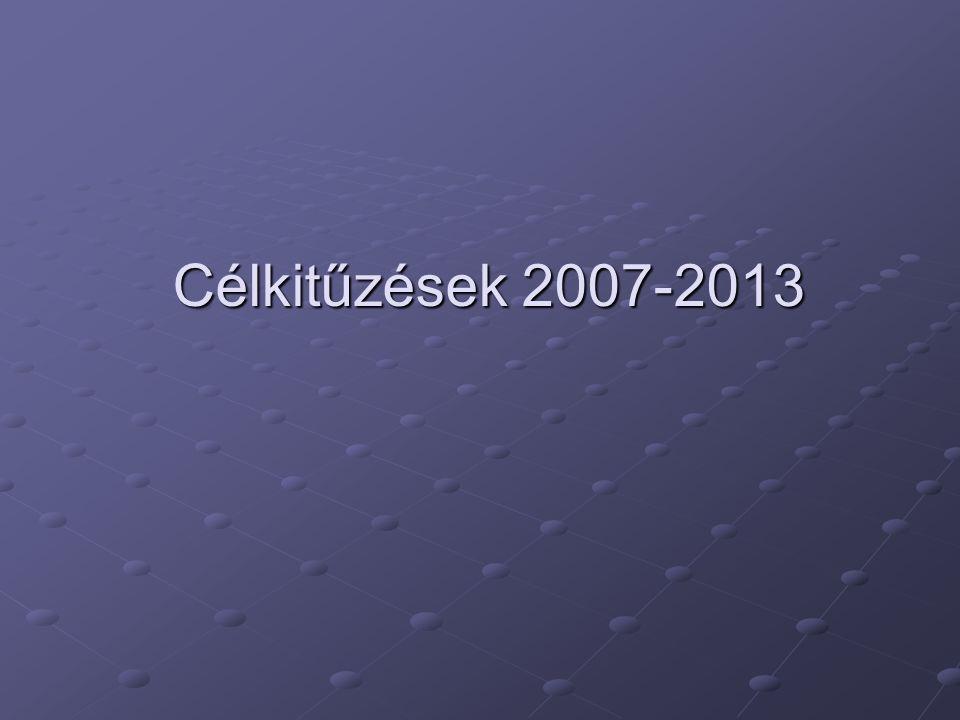 Célkitűzések 2007-2013
