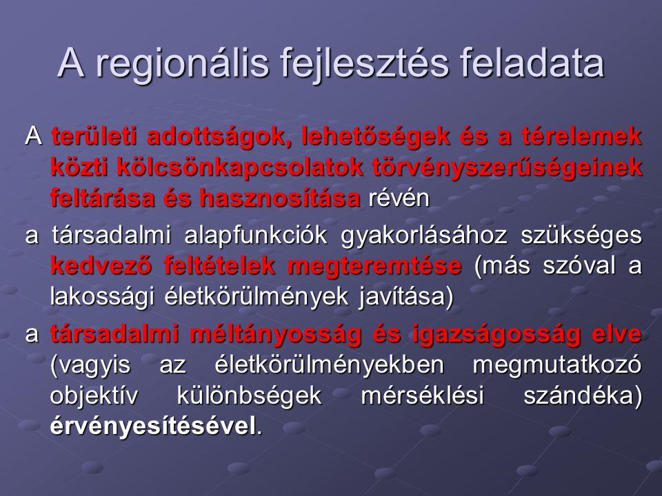 A regionális fejlesztés feladata