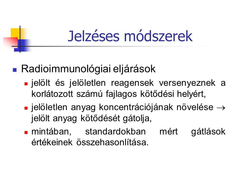 Jelzéses módszerek Radioimmunológiai eljárások
