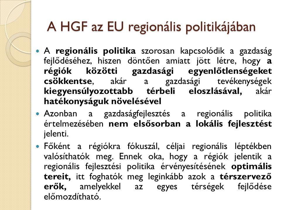 A HGF az EU regionális politikájában
