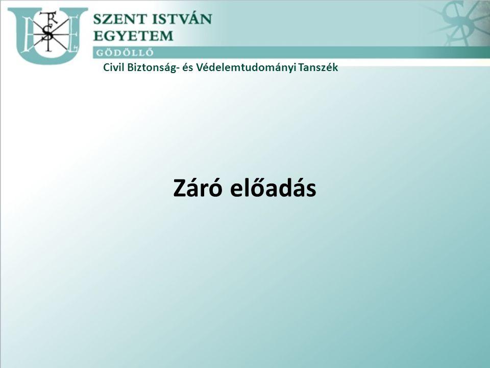 Civil Biztonság- és Védelemtudományi Tanszék