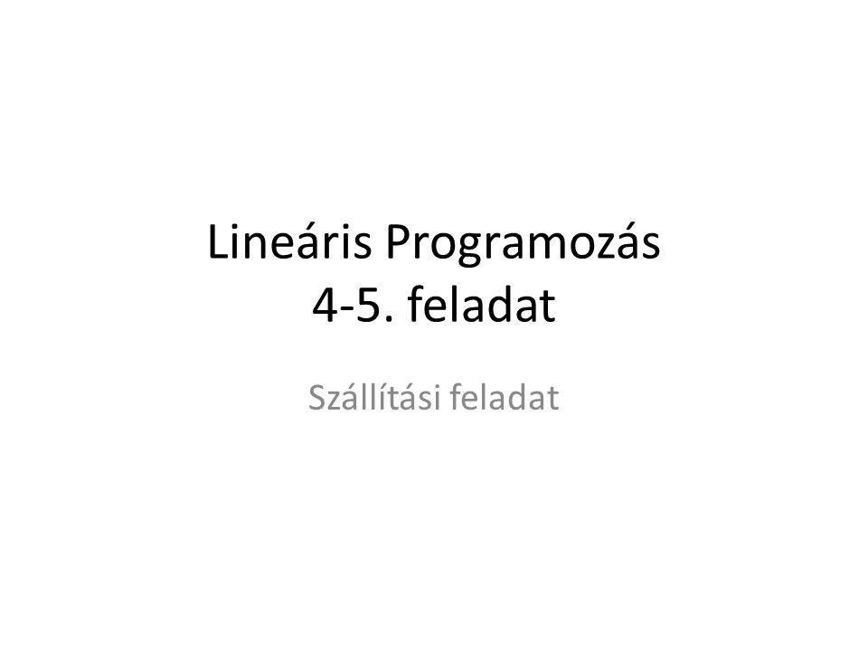 Lineáris Programozás 4-5. feladat