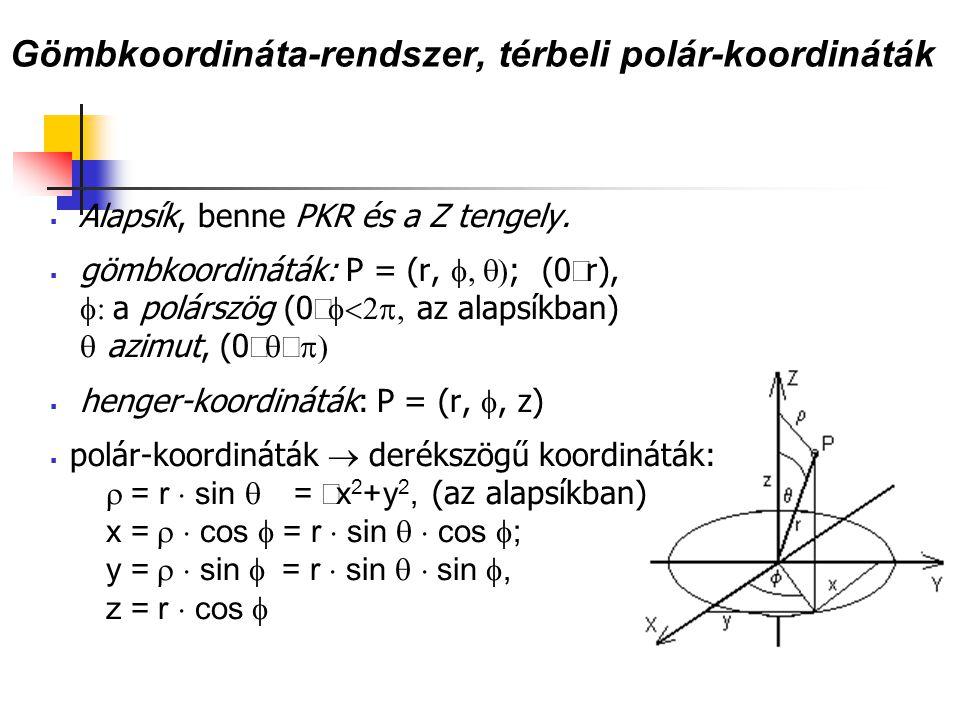 Gömbkoordináta-rendszer, térbeli polár-koordináták