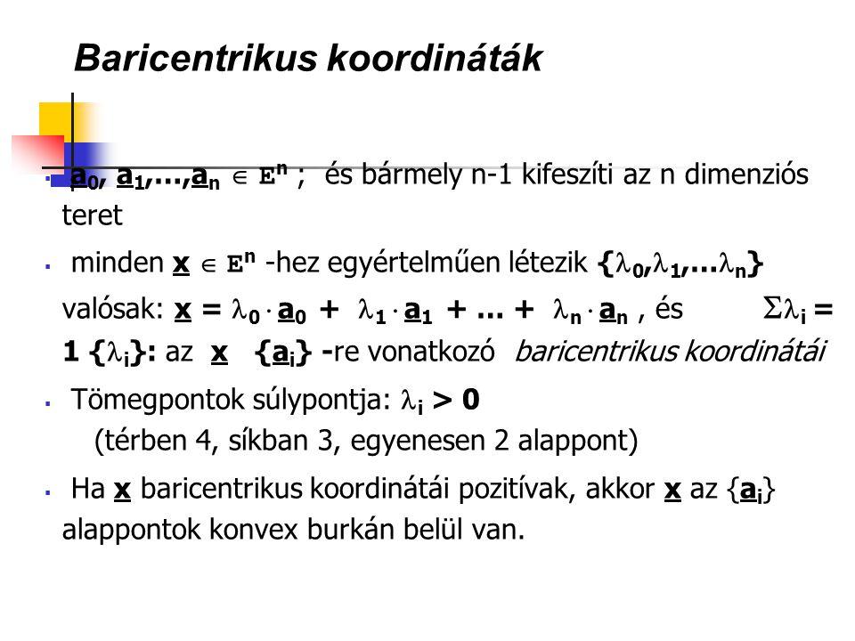 Baricentrikus koordináták