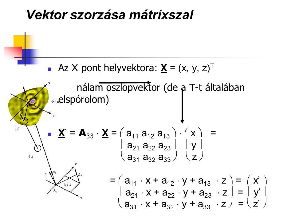 Vektor szorzása mátrixszal