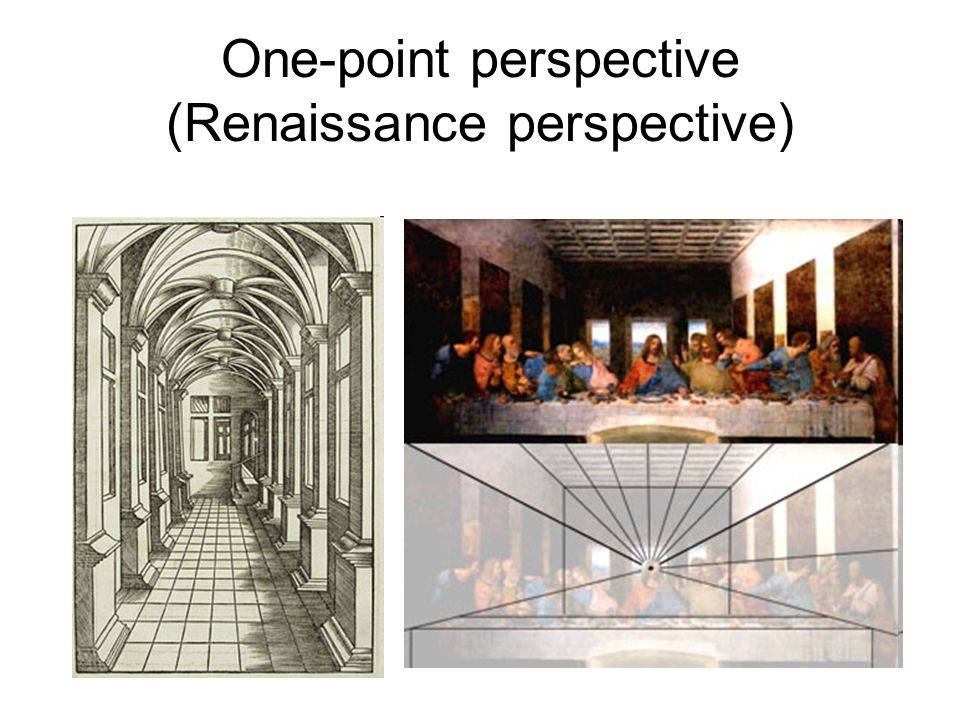 One-point perspective (Renaissance perspective)