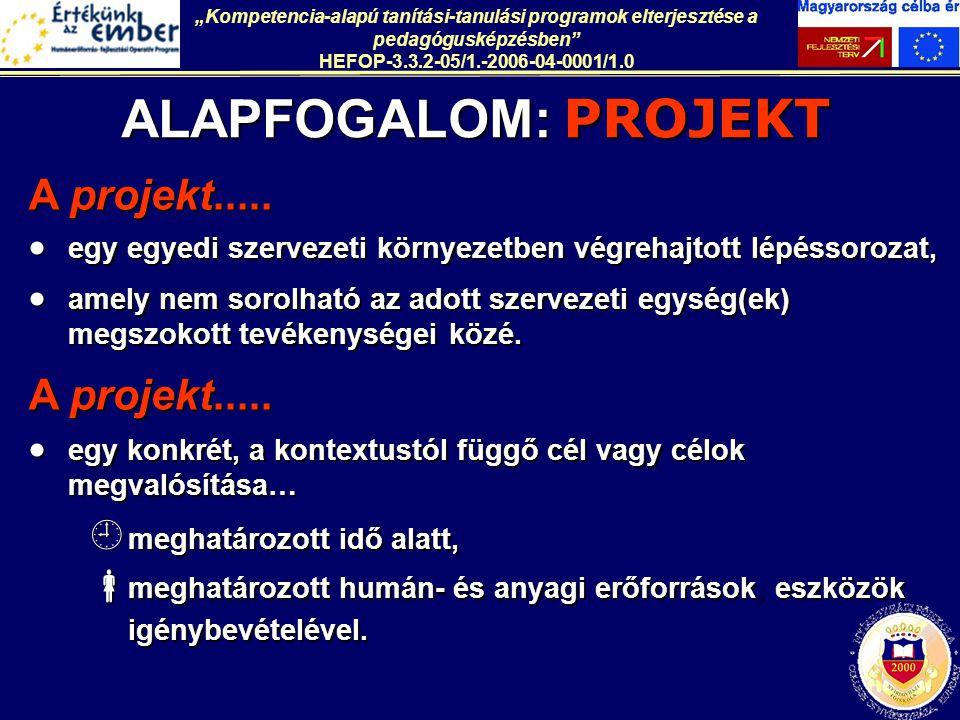 ALAPFOGALOM: PROJEKT A projekt.....