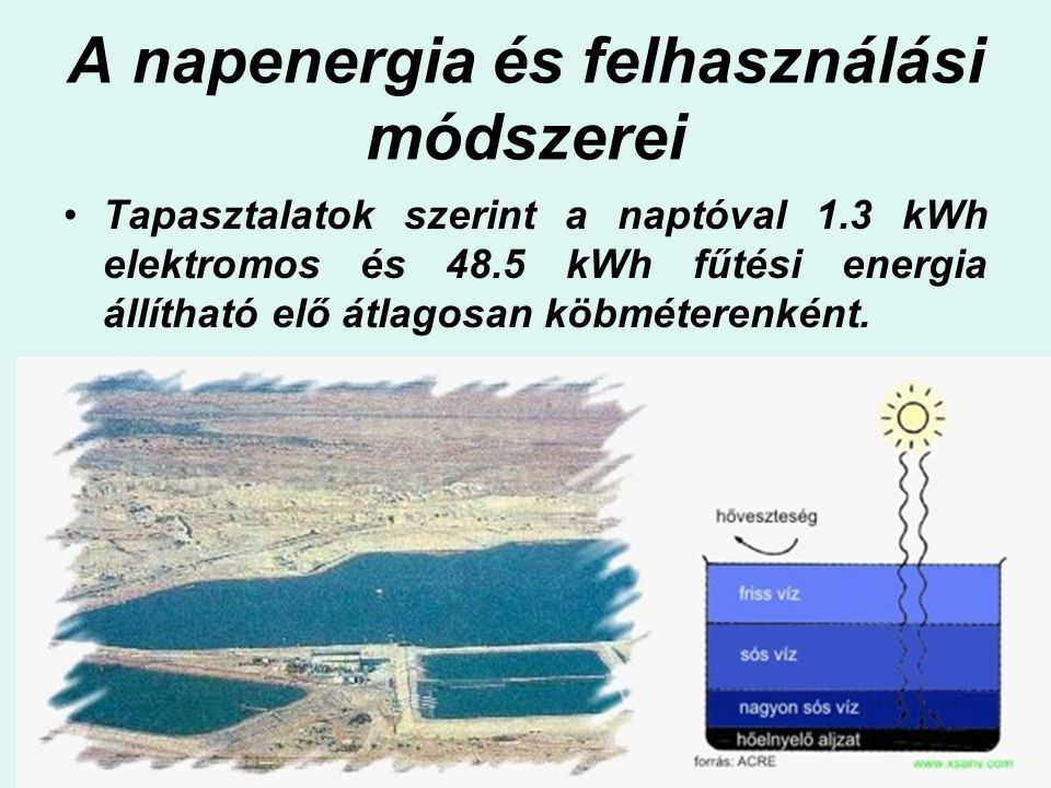 A napenergia és felhasználási módszerei