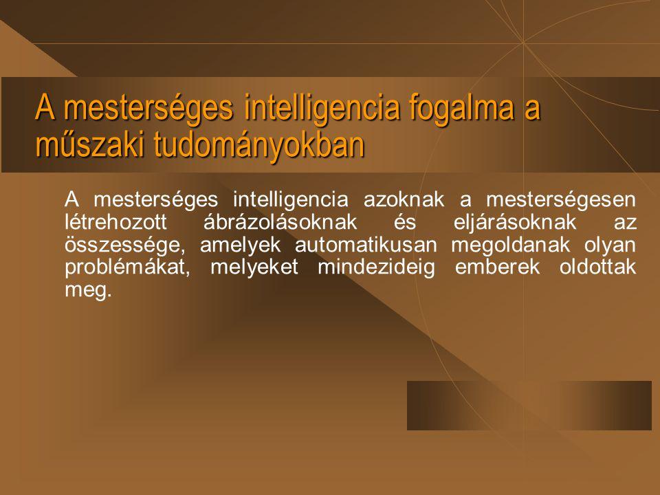 A mesterséges intelligencia fogalma a műszaki tudományokban