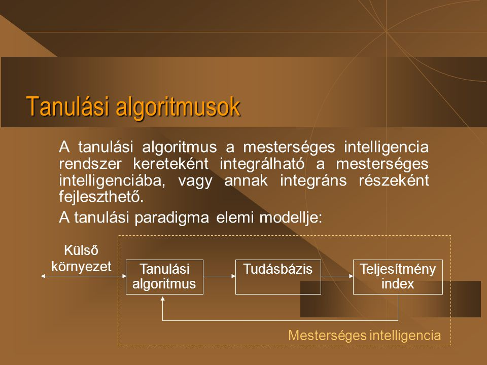 Tanulási algoritmusok