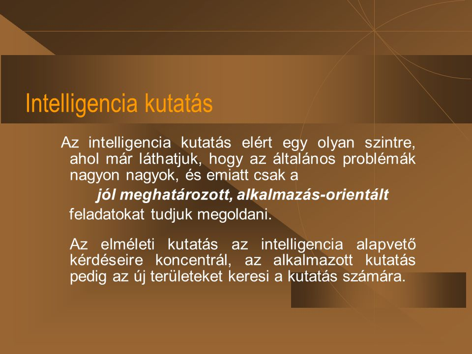 Intelligencia kutatás
